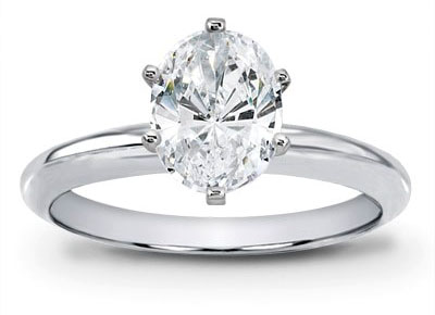 Oval Diamond Solitaire Oval Solitaire
