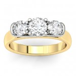 Gold Three Stone Ring