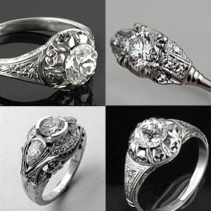 Antique setting Diamond Ring