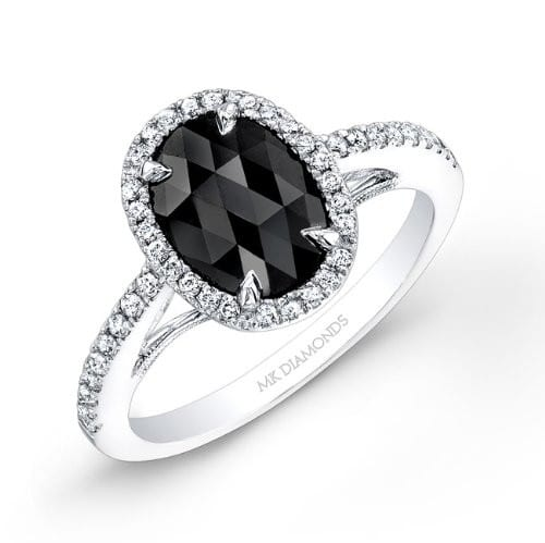 cut halo engagement matching cushion set black ring jewellery diamond