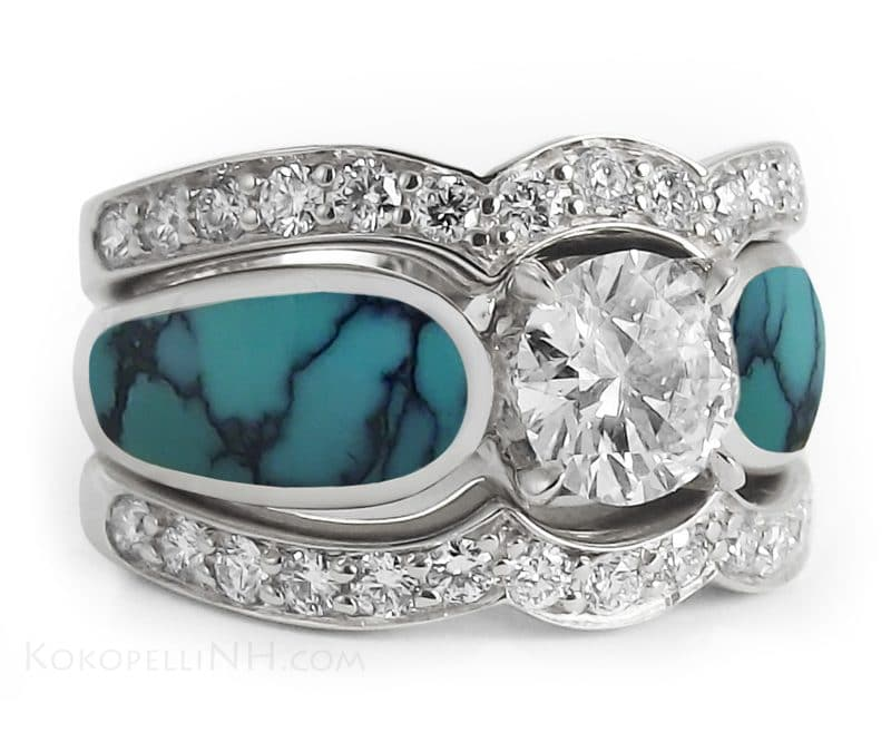 Turquoise Wedding Rings
