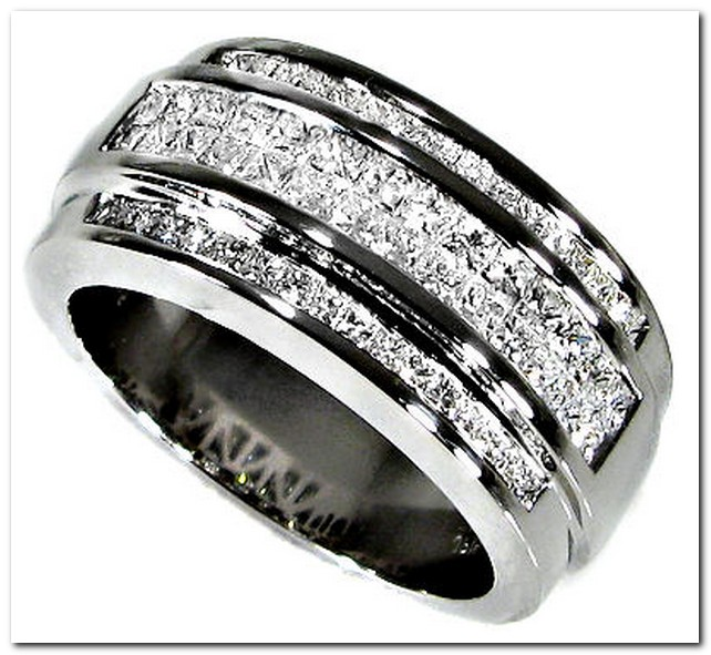 Mens Gold Wedding Bands With Black Diamonds