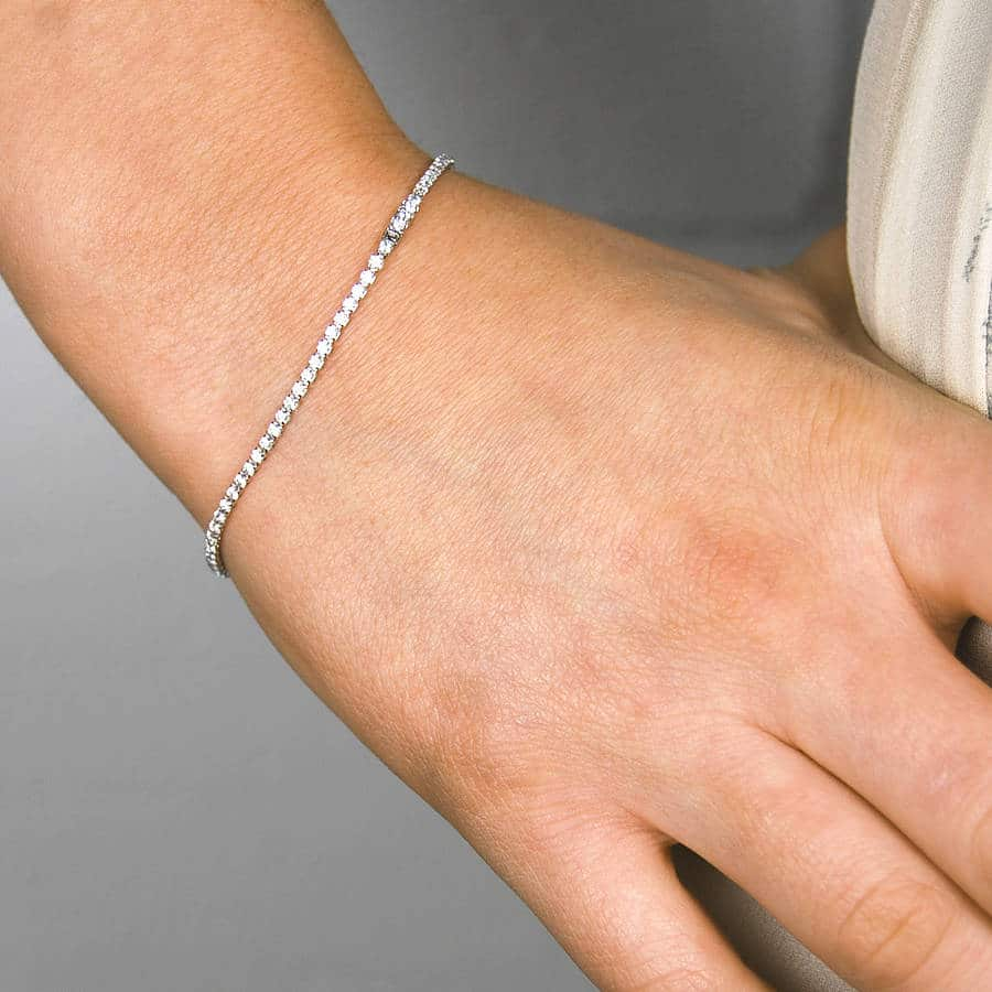 in with sterling thin tw diamond diamonds carat of bangle bangles silver bracelet
