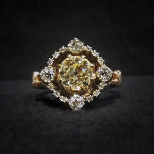georgian style engagement ring
