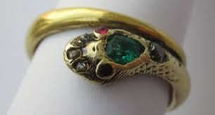 antique ring style guide - queen Victoria snake ring