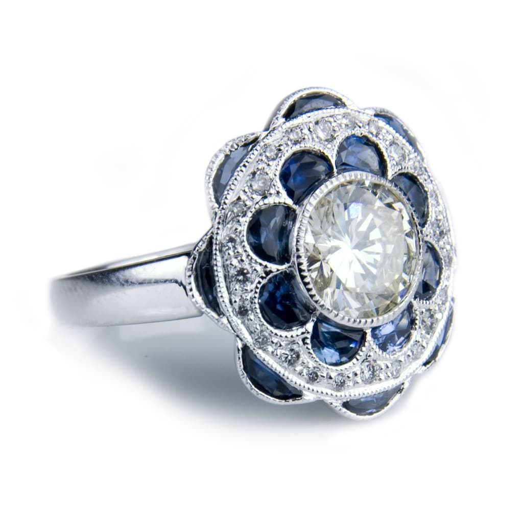 diamond rings pave vintage ring edwardian engagement style