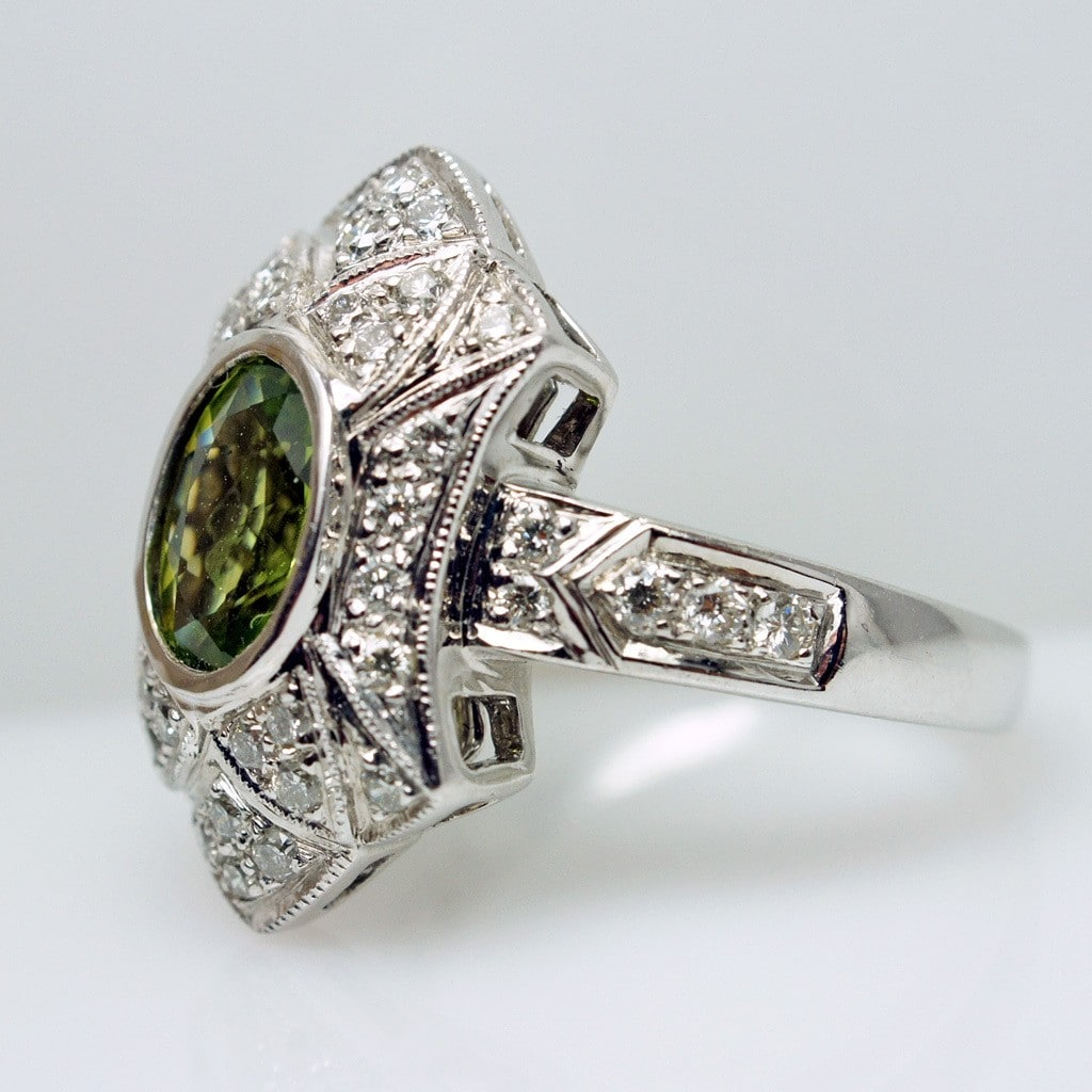 art deco style engagement ring