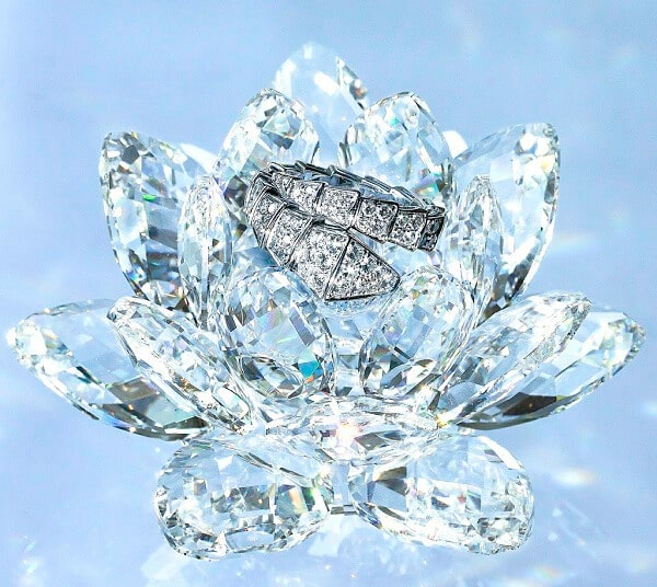 ring with lab created diamonds