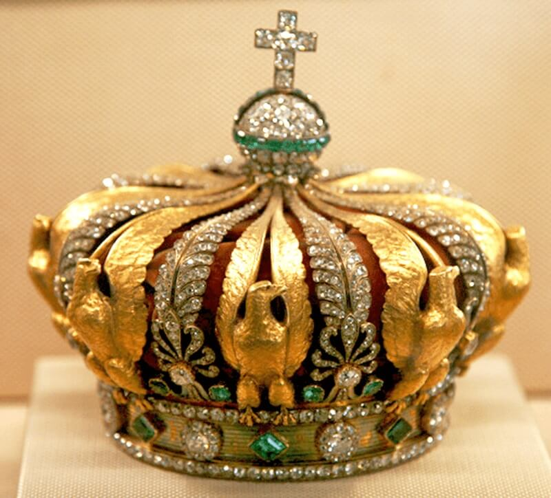 Crown of Empress Eugenie 100 carat diamond