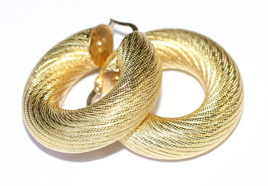 Gold Hoop Earrings diamond hoop earrings