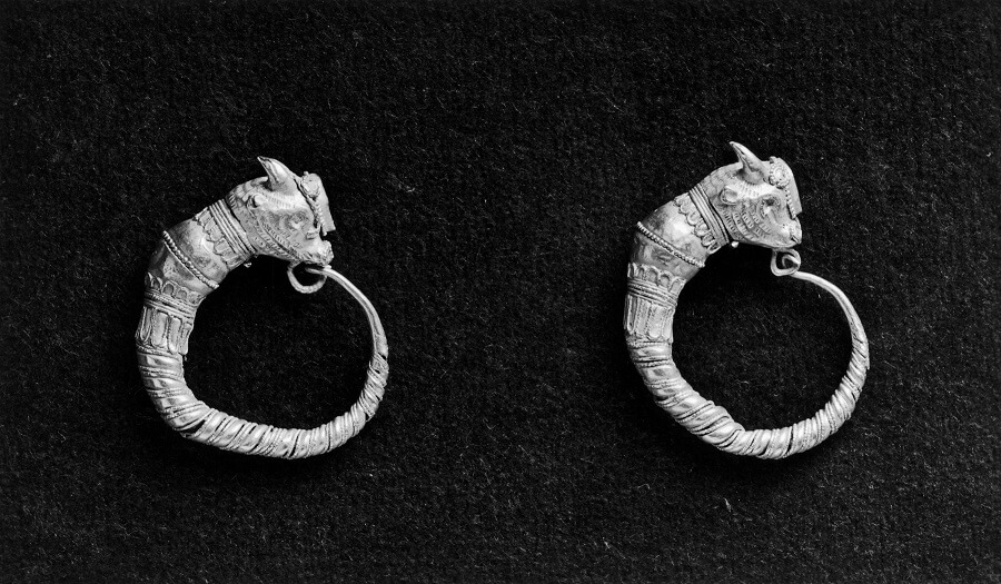 Pair of Ancient Greek Hoop Earrings diamond hoop earrings