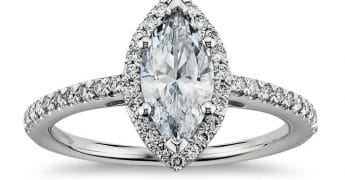 marquise cut diamond on a ring