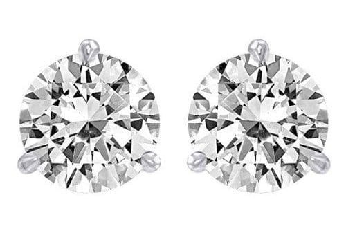 pair of white diamond stud earrings
