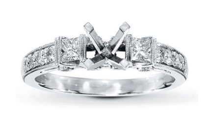 cheap princess cut engagement ring