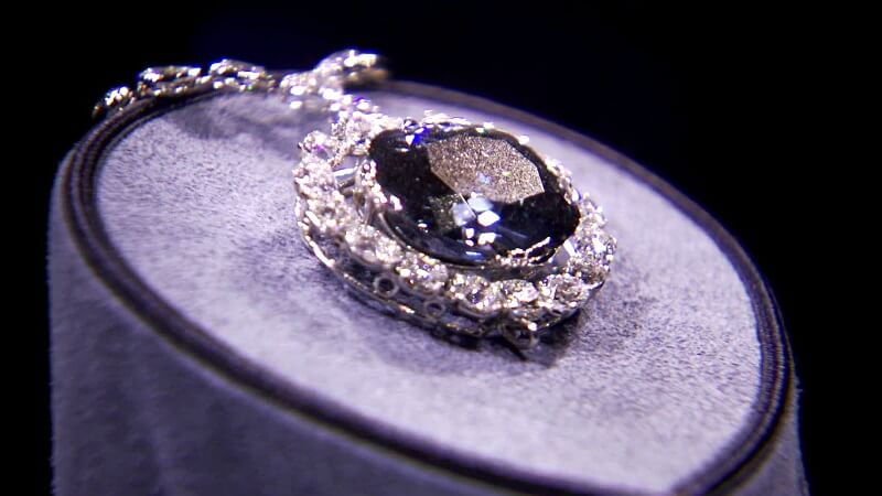 The Hope Diamond at the Smithsonian Museum
