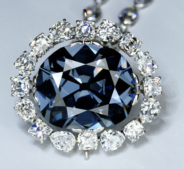 Hope Diamond, a blue colored diamond