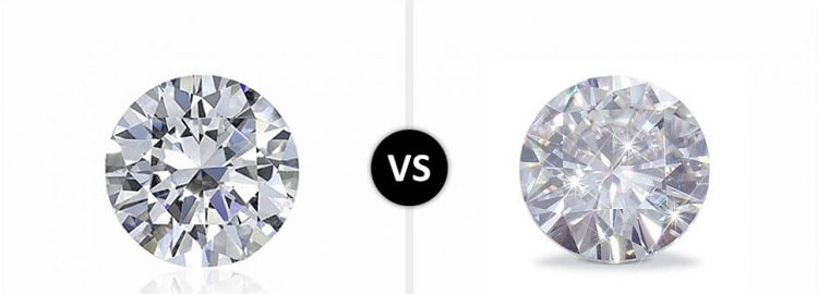 moissanite and diamond stones