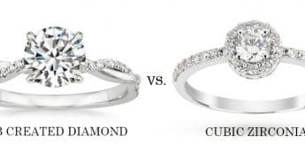 Lab Created Diamond vs Cubic Zirconia
