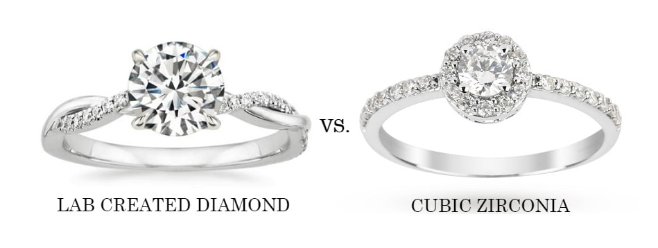 Lab Created Diamond vs Cubic Zirconia: How Are They Different?