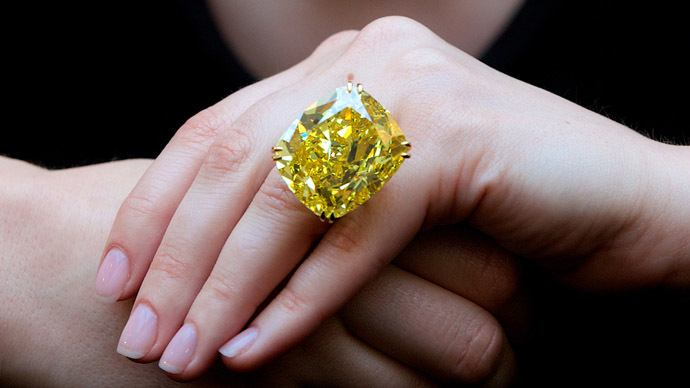 Graff Vivid Yellow Diamond, most expensive yellow diamond in the world