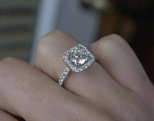 asha ring moissanite cz diamond lovely vs zirconia of cubic