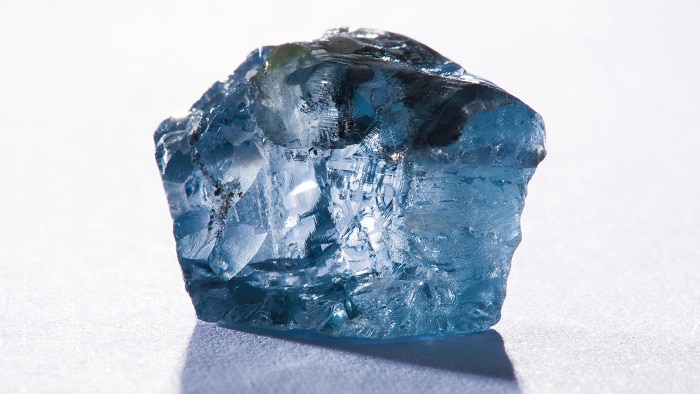 uncut blue diamond