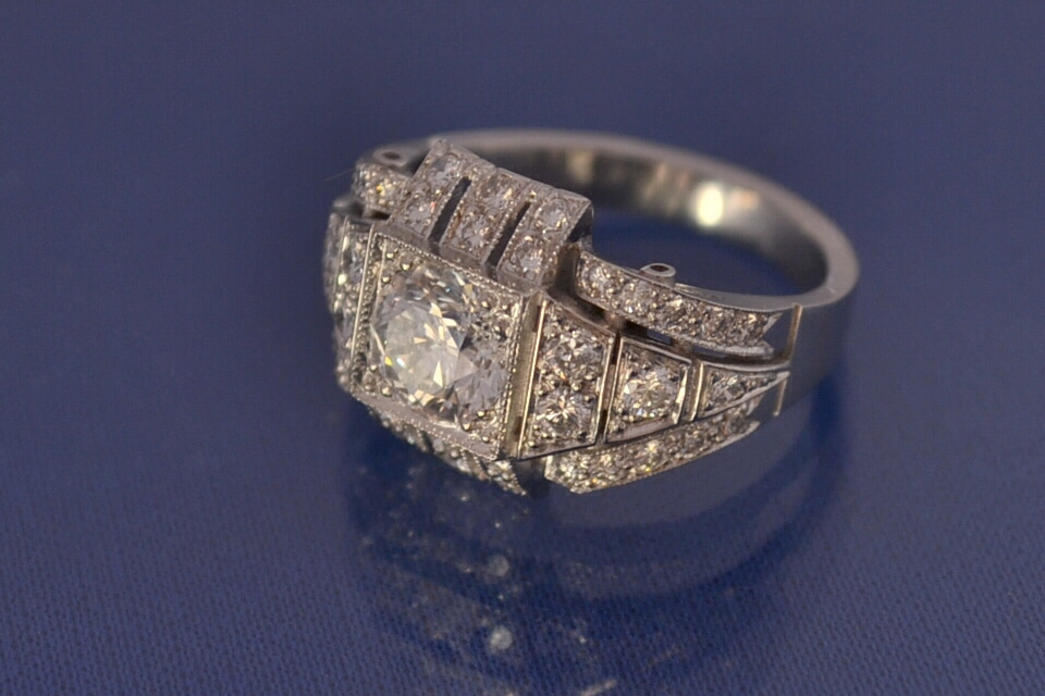 edwardian art Deco engagement ring