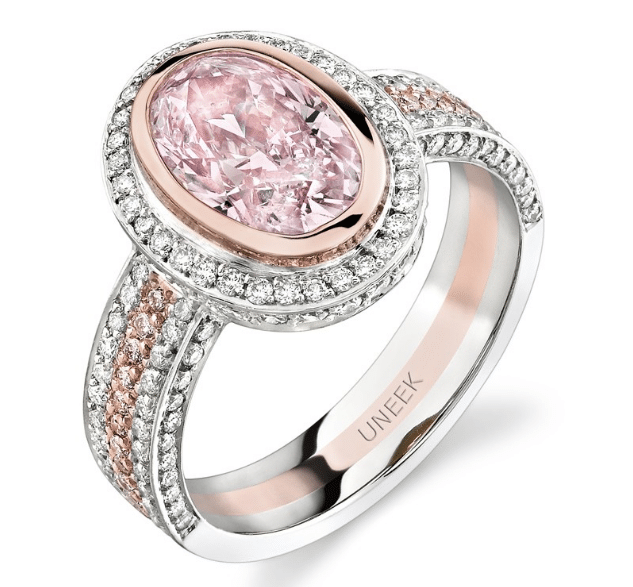 Light Pink Oval Diamond